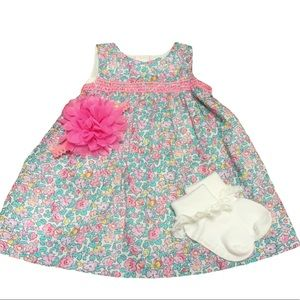 NEW Gap 6-12m Baby Girl Floral Dress
